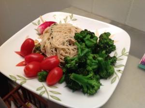 broccoli and kale spagetti