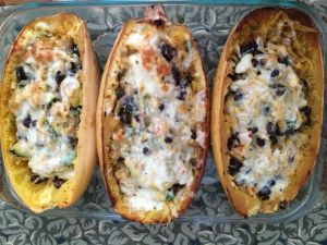 Stuffed Spaghetti Squash (the picture does not do this dish justice! It tastes great.)